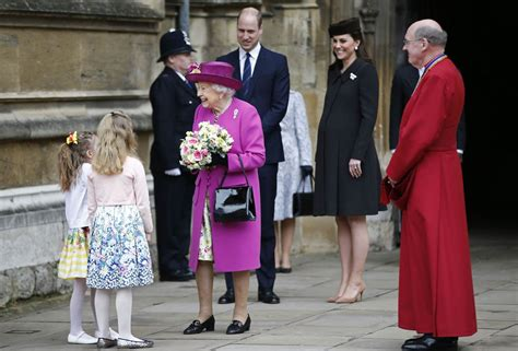 Prince William and Catherine join the Queen for Easter