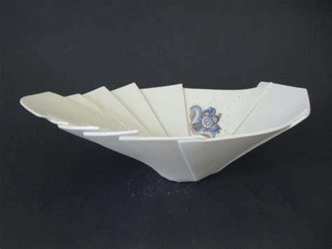 Folded Paper Bowl - origami bowls carol forster ceramic artist