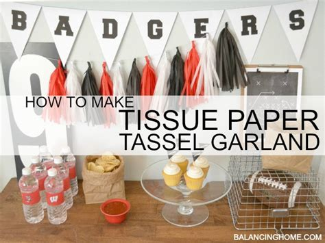 How To Make A Tissue Paper Tassel - how to make tissue paper tassel garland balancing home