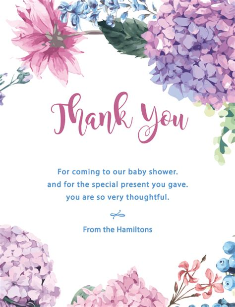 Thank You For Baby Shower At Work by Fiore Digital Printing Baby Shower Thank You Cards