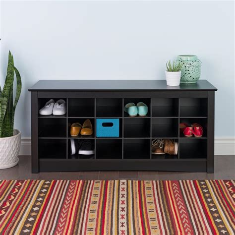 prepac storage bench prepac sonoma black storage bench bss 4824 the home depot