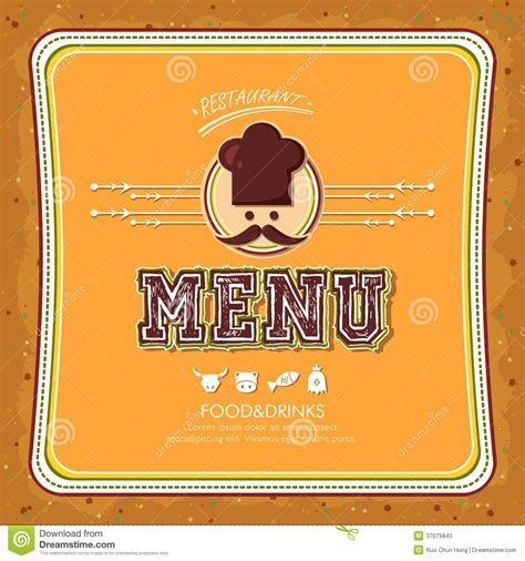 menu cover template restaurant menu stock photos image 37079843