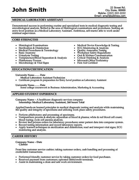 Accounting Student Resume Sample by Medical Laboratory Assistant Resume Template Premium