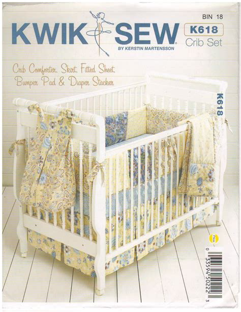 baby comforter patterns kwik sew k618 2000s sewing pattern nursery crib bedding set