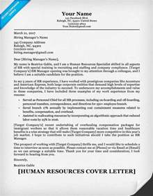 hr cover letter for resume human resources cover letter writing sle resume