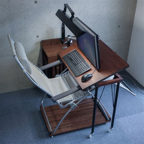 Chair With Laptop Desk Pc Desk That Can Desk Work On Recliner Chairs Keyboard And Mouse Diy And Crafts Pinterest