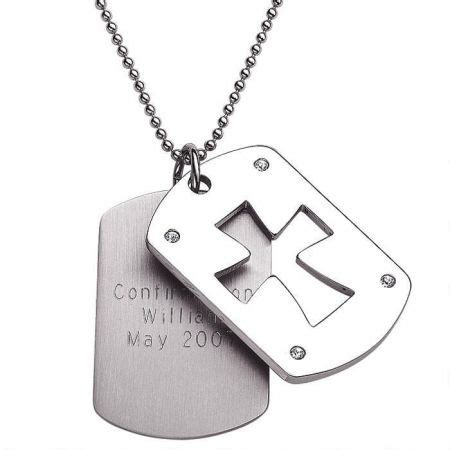 tag cross necklace stainless steel tag cross necklace colorful images