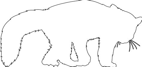 Panda Outline Drawing by Panda Silhouette Free Vector Silhouettes