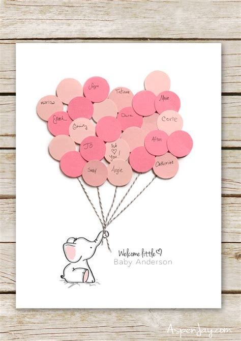 Elephant Baby Shower Balloons by Elephant Baby Shower Guest Book Printable Elephant Baby