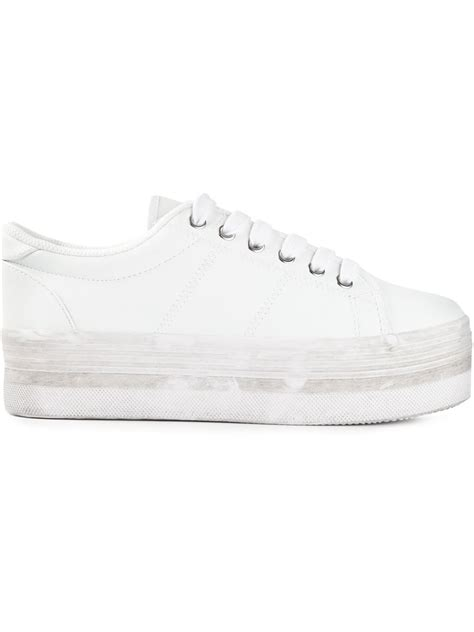 platform white sneakers jeffrey cbell zomg platform sneakers in white lyst