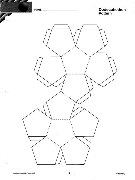 Dodecahedron Template Printable Images - independentthepiratebay