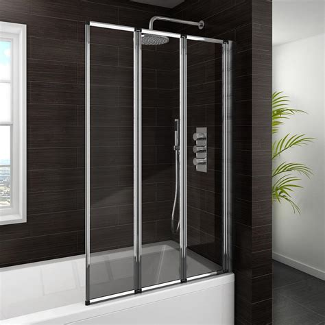folding bath shower screen haro folding bath screen 3 fold concertina from