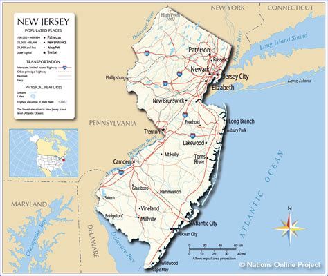 map new jersey maps us map new jersey