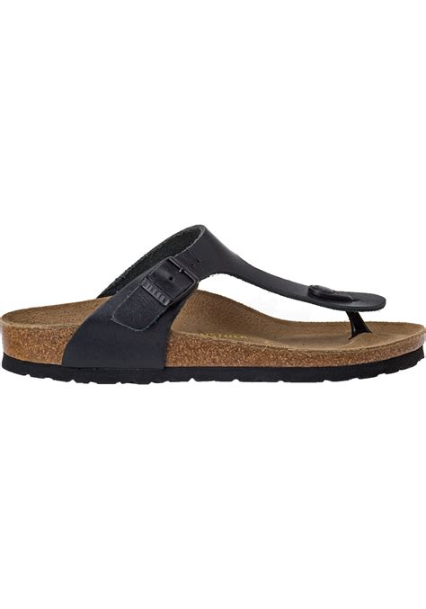 Wedges Shoes Cortina 1 birkenstock gizeh black leather in black lyst