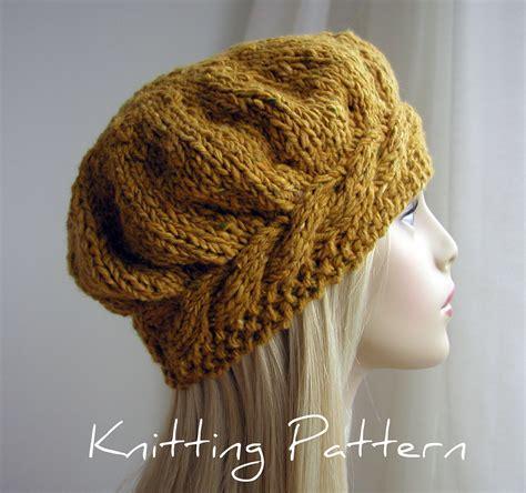 free knitting pattern hat pinterest free easy knitting hat patterns knit patterns beret