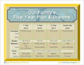 5 year goal plan template gifts we use family 5 year plan a printable
