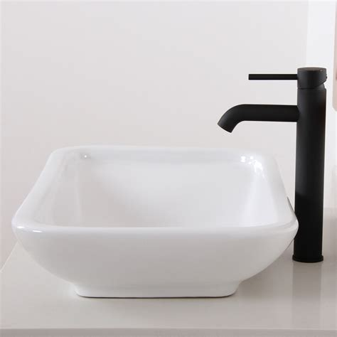 elite f371023bl black luxury tall bathroom sink faucet