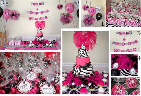 hot pink themes my creative way hot pink zebra diva birthday party ideas