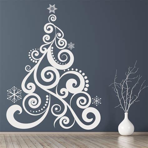 swirl christmas tree wall sticker christmas wall art
