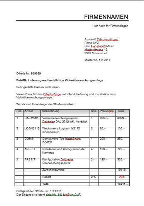 Angebot Vorlage Gratis Mahnung Vorlage Schweiz Muster Und Vorlagen Kostenlos