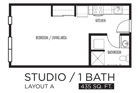 one room efficiency apartment plans bestapartment