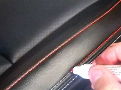 auto upholstery dye diy color your car seat stitching youtube