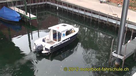 motorboot richtig starten ankern am steg an der bootspr 252 fung z 252 richsee youtube