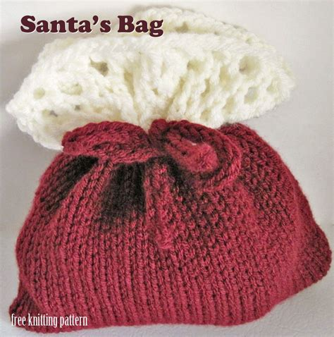 free knitting pattern christmas gift bags