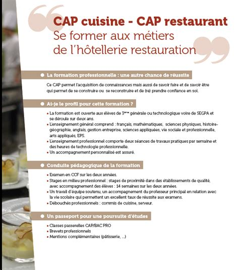 cap de cuisine formation de cuisine formation cuisine collective