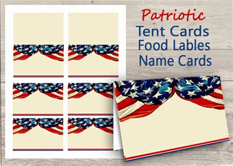 place cards for veteran template patriotic name tags place cards table cards buffet table