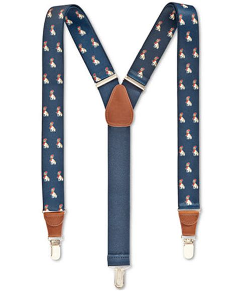club room animal printed suspenders 32mm only at macy s