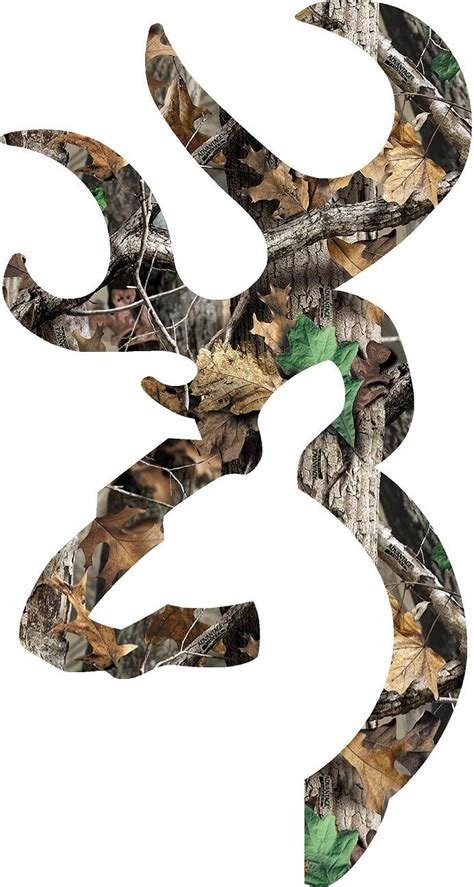 browning style buck realtree white browning style deer camo patterns decal sticker 2 quot 30