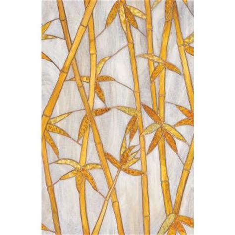 decorative window film home depot artscape 24 in x 36 in bamboo decorative window film 01