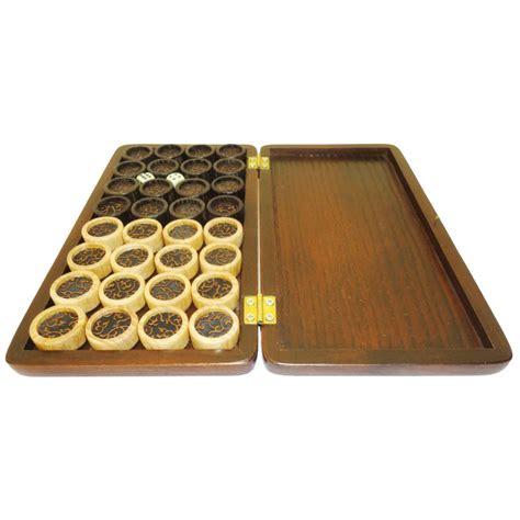 Handmade Wooden Set - handmade carved set of luxury wooden backgammon board set