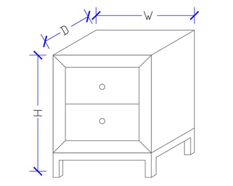 bedside table dimensions dimensions of a bedside table weifeng furniture