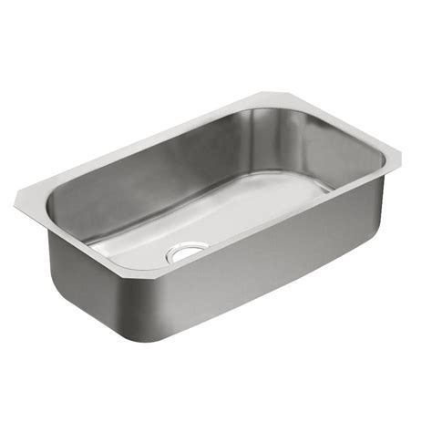 moen kitchen sinks undermount moen 1800 series undermount stainless steel 31 in single