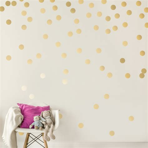 stick wall c053 gold wall decal dots easy peel stick round circle art