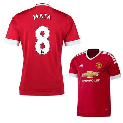 Jersey Original Manchester United 2015 Ber Tangan Juan Mata Baju Bola adidas youth manchester united mata 8 soccer jersey home