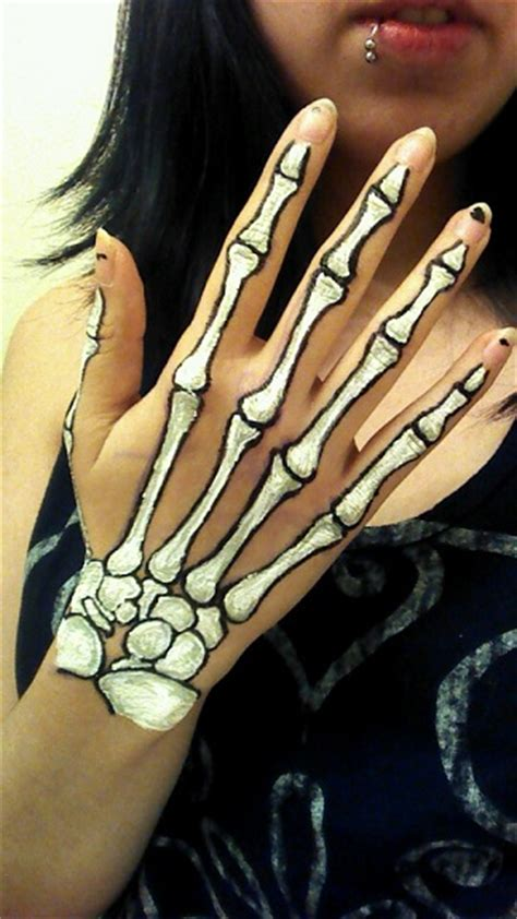 hand tattoo makeup skeleton drawings on hands google search artistic make
