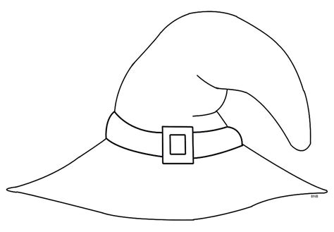 hat template printable witch hat coloring pages images sketch coloring page
