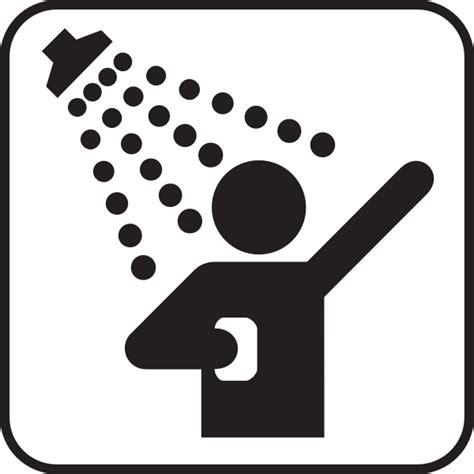 piktogramm dusche shower clip at clker vector clip