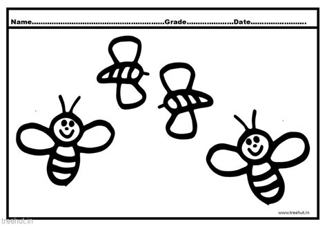 bee color bee coloring pages for