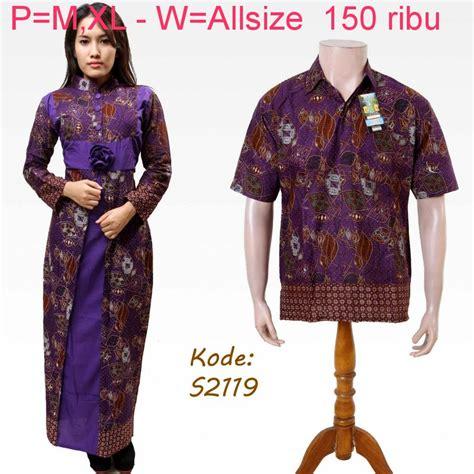 Kaos Suami baju batik pasangan suami istri model baju batik