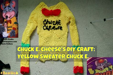 Cheese Sweater chuck e cheese s diy craft yellow sweater chuck e