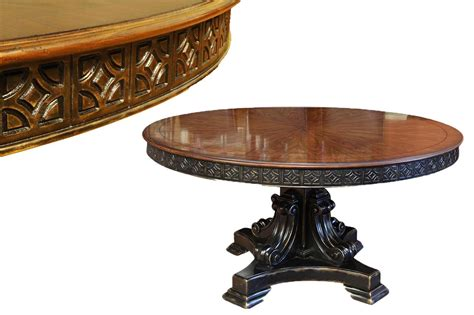 60 inch round pedestal table 60 inch round walnut pedestal dining table w black and gold