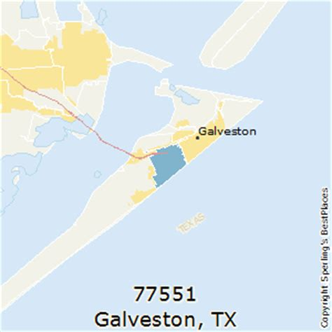 galveston texas zip code map best places to live in galveston zip 77551 texas