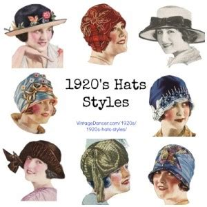 names of 1920s hairstyles 1920s hat styles for women history beyond the cloche hat