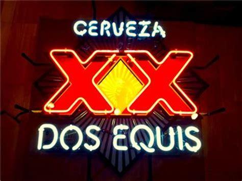 dos equis bar light dos equis cerveza xx logo neon beer sign bar light usa