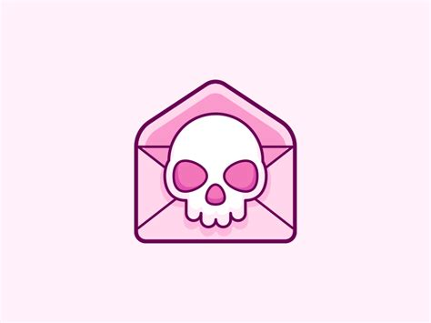 emoji email illustration quot skull email emoji quot by rocky roark dribbble