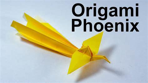 origami 3d phoenix tutorial origami phoenix tutorial traditional youtube